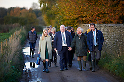 Nicola Blackwood MP and Eric Pickles  MP. the Bessesleigh, Oxfordshire, Abingdon, United Kingdom. They visited the proposed  solar park site where there are plans to cover 121 acres of farmland with 70,000 solar panels. Tuesday, 12th November 2013. Picture by i-Images