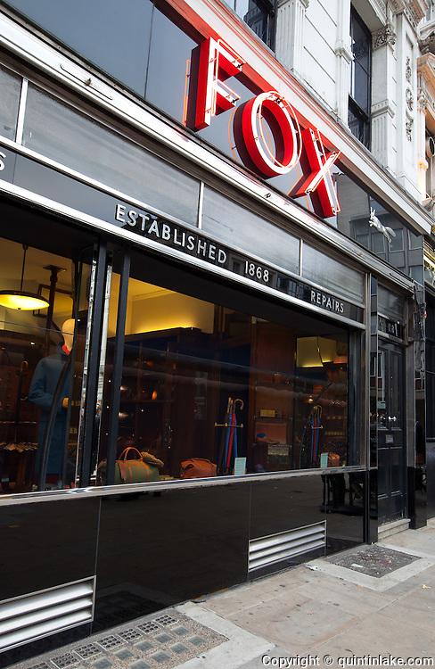 Fox Umbrella Shop, 118 London Wall