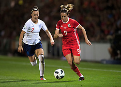 NEWPORT, WALES - Thursday, August 30, 2018: Wales' Kayleigh Green in action during the FIFA Women's World Cup 2019 Qualifying Round Group 1 match between Wales and England at Rodney Parade. (Pic by Laura Malkin/Propaganda)