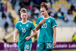 Linda Dallmann of Germany  of Germany  and Lina Magull of Germany during football match between Slovenia and Germany in Womans Qualifications for World Championship 2019, on April 10, 2018 in Sports park Domzale, Domzale, Slovenia. Photo by Ziga Zupan / Sportida