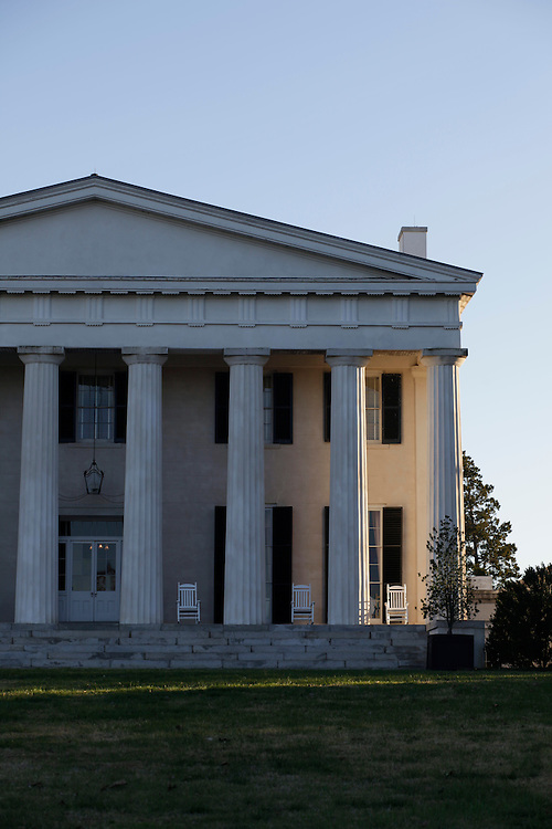 The former campus of Founders College, which is now The Berry Hill Resort & Conference Center outside of South Boston, Virginia, Sunday, Nov. 14, 2010. The resort and former campus is located on tract of land originally granted by the English Crown in 1728. James Cole Bruce built the Greek revival mansion in 1842 and the entire estate underwent a multimillion dollar renovation that was completed in 1999. ..Photo by D.L. Anderson for The Chronicle of Higher Education.