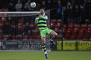Forest Green Rovers Gavin Gunning(16) controls the ball during the EFL Sky Bet League 2 match between Crewe Alexandra and Forest Green Rovers at Alexandra Stadium, Crewe, England on 20 March 2018. Picture by Shane Healey.