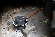 The cooking pot sits abandoned in an empty kitchen at Kitovu Hospital, Uganda.<br /> <br /> Their aren't any locally trained doctors and so patients have to wait until one of the Fistula camps is on. This is when doctors from outside the Uganda come and perform these operations.<br /> <br /> RCOG is involved in facilitating these camps.