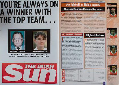All Ireland Senior Hurling Championship - Final, .12.09.1999, 09.12.1999, 12th September 1999,.12091999AISHCF,.Senior Kilkenny v Cork,.Minor Galway v Tipperary, .Cork 0-13, Kilkenny 0-12,.The Irish Sun,