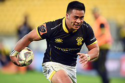 Wellington's Asafo Aumua trybound against Northland in the Mitre 10 Rugby match at Westpac Stadium, Wellington, New Zealand, Thursday, October 12 2017. Credit:SNPA / Ross Setford  **NO ARCHIVING**