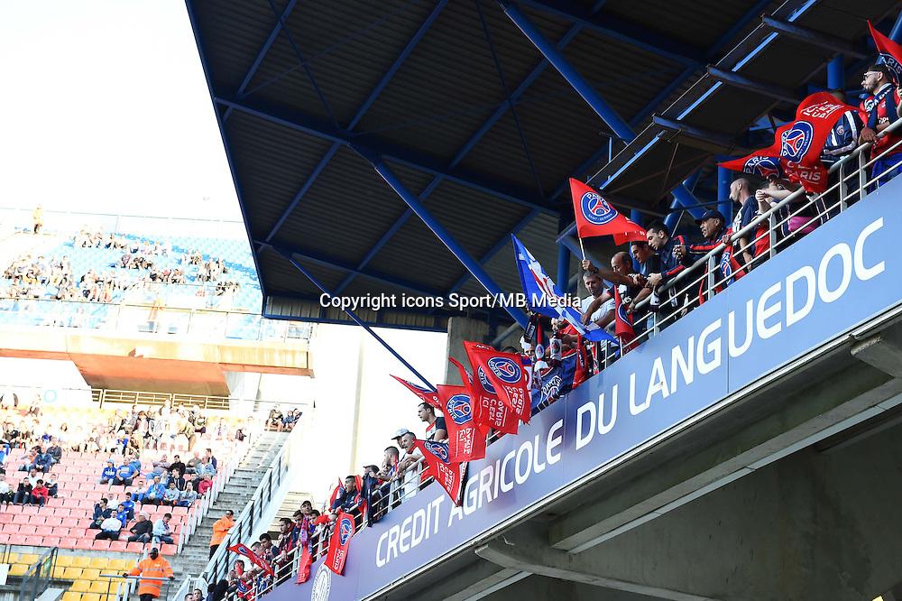 Supporters PSG - 16.05.2015 - Montpellier / Paris Saint Germain - 37eme journée de Ligue 1<br />Photo : Alexandre Dimou / Icon Sport