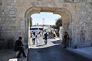 Israel, Jerusalem, Old City The Dung Gate (also known as Sha'ar Ha'ashpot, Gate of Silwan, Mograbi Gate)