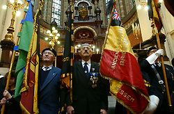 BRUSSELS, BELGIUM - JAN-30-2005 - A memorial service is held at the Grand Synagogue in Brussels in remembrance of the liberation of the notorious Nazi concentration camp at Auschwitz. (Photo © Jock Fistick)