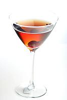 Drink in matrini glass