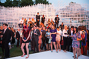 HARRIET VERNEY, The Serpentine Summer Party 2013 hosted by Julia Peyton-Jones and L'Wren Scott.  Pavion designed by Japanese architect Sou Fujimoto. Serpentine Gallery. 26 June 2013. ,