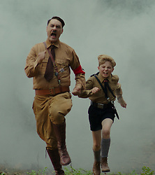 RELEASE DATE: October 18, 2019 TITLE: Jojo Rabitt STUDIO: Twentieth Century Fox DIRECTOR: Taika Waititi PLOT: A young boy in Hitler's army finds out his mother is hiding a Jewish boy in their home. STARRING: ROMAN GRIFFIN DAVIS as Jojo, TAIKA WAITITI as Adolf. (Credit Image: © Twentieth Century Fox/Entertainment Pictures/ZUMAPRESS.com)