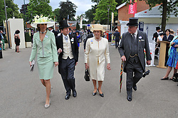Left to right, SIR JOHN & LADY CAROLYN WARREN and MR & MRS CHRISTOPHER SPENCE at day 2 of the 2011 Royal Ascot Racing festival at Ascot Racecourse, Ascot, Berkshire on 15th June 2011.