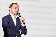 WARSAW, POLAND - APRIL 23: Michal Rynkowski<br /> Director of Anti-Doping Commission Office speaks during science conference The Day of Sport at National Library on April 23, 2016 in Warsaw, Poland.<br /> <br /> Picture also available in RAW (NEF) or TIFF format on special request.<br /> <br /> Any editorial, commercial or promotional use requires written permission from the author of image.<br /> <br /> Adam Nurkiewicz declares that he has no rights to the image of people at the photographs of his authorship.<br /> <br /> Mandatory credit:<br /> Photo by © Adam Nurkiewicz / Mediasport