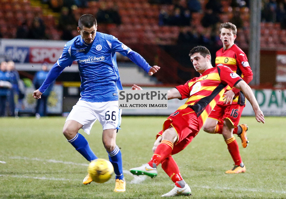 Partick Thistle v St.Johnstone in the Ladbrokes Premiership.... Kris Doolan (Partick Thistle) scores ....(c) STEPHEN LAWSON | SportPix.org.uk