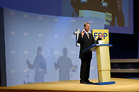 08 SEP 2002, BERLIN/GERMANY:<br /> Guido Westerwelle, FDP Bundesvorsitzender, waehrend seiner Rede, FDP Bundesparteitag, Hotel Estrell<br /> IMAGE: 20020908-01-071<br /> KEYWORDS: party congress, speech