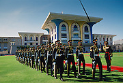 Soldiers marching in Oman in the Gulf States