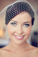 Portrait of beautiful Bride Louise at the Sebel Pier One Hotel, Sydney, Australia.<br />