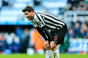 Fabian Schar (#5) of Newcastle United during the Premier League match between Newcastle United and Everton at St. James's Park, Newcastle, England on 9 March 2019.
