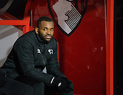 Darren Bent during the Sky Bet Championship match between Bournemouth and Derby County at the Goldsands Stadium, Bournemouth, England on 10 February 2015. Photo by Adam Rivers.