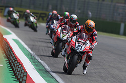 May 13, 2018 - Imola, Italy, Italy - 21 Michael Ruben Rinaldi ITA Ducati Panigale R Aruba.it Racing - Junior Team during the Motul FIM Superbike Championship - Italian Round  race 2 during the World Superbikes - Race at Enzo & Dino Ferrari Circuit on May 13, 2018 in Imola, Italy. (Credit Image: © Fabio Averna/NurPhoto via ZUMA Press)