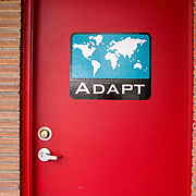 ADAPT Engineering Office door, International District, Seattle, Washington