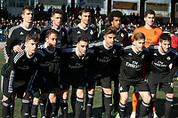 Real Madrid Castilla´s  Ruben Yanez, Varela, Diego Llorente, Jaime, Derik, Torro, Alvaro, Aguza, Narvaez, Benavente y Alvaro Medran during 2014-15 Spanish Second Division B match between Trival Valderas and Real Madrid Castilla at La Canaleja stadium in Alcorcon, Madrid, Spain. February 01, 2015. (ALTERPHOTOS/Luis Fernandez)