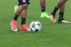 September 26, 2017 - Turin, Piedmont, Italy - The training of Olympiakos FC on the eve of  the UEFA Champions League (Group D) match between Juventus FC and Olympiakos FC  at Allianz Stadium on 26 September, 2017 in Turin, Italy. (Credit Image: © Massimiliano Ferraro/NurPhoto via ZUMA Press)