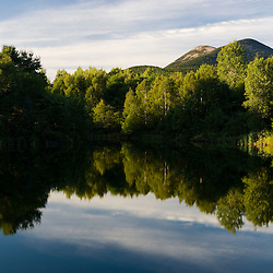 The Percy Peaks in New Hampshire's Nash Stream State Forest.