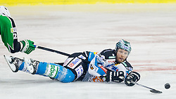 Gregor Baumgartner (EHC Liwest Linz, #79) during ice-hockey match between HDD Tilia Olimpija and EHC Liwest Black Wings Linz at second match in Semifinal  of EBEL league, on March 8, 2012 at Hala Tivoli, Ljubljana, Slovenia. (Photo By Matic Klansek Velej / Sportida)
