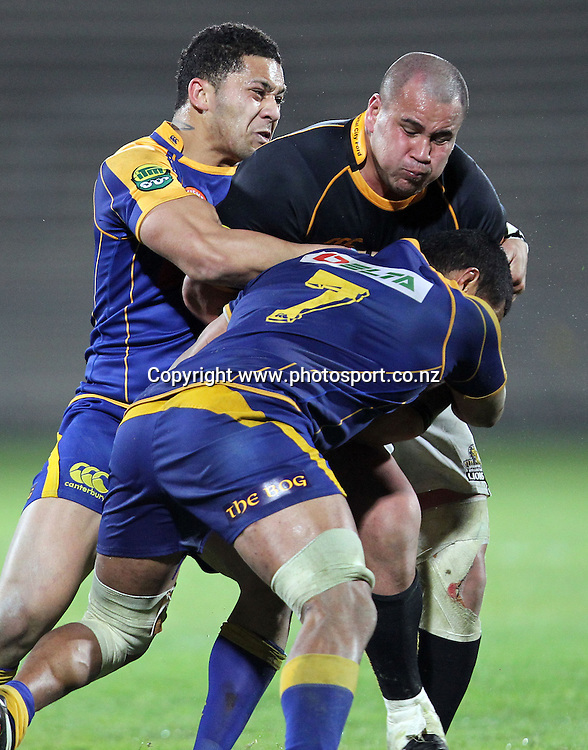 John Schwalger on the charge.<br /> Rugby - ITM Cup - Mike Gibson Memorial Trophy - Otago v Wellington, 14 August 2010, Carisbrook, Dunedin, New Zealand.<br /> Photo: Rob Jefferies/PHOTOSPORT