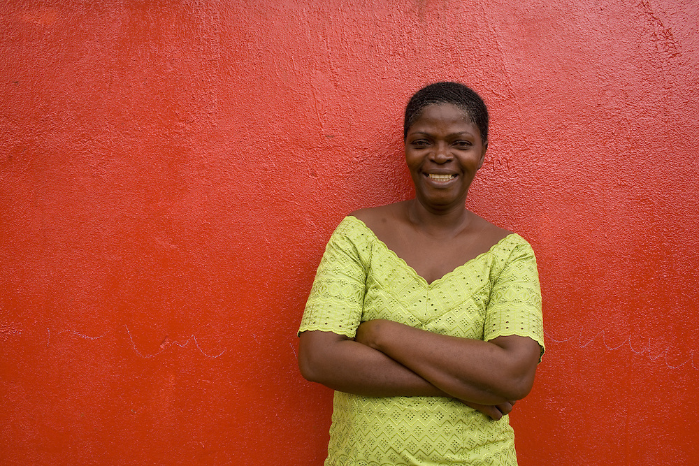 Kaytor Kowo, certified midwife at Kingsville clinic. .Kingsville, Liberia, West Africa.
