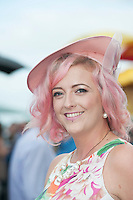 29/07/2014 Pretty in Pink Nor Humphries from Newport Tipperary at the Tuesday evening meeting of the Galway Summer racing Festival. Photo: Andrew Downes