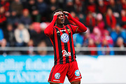 OSTERSUND, SWEDEN - APRIL 21: Alhaji Gero of Ostersunds FK dejected during the Allsvenskan match between Ostersunds FK and Orebro SK at Jamtkraft Arena on April 21, 2018 in Ostersund, Sweden. Photo by Nils Petter Nilsson/Ombrello ***BETALBILD***