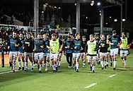Glasgow Warriors return to teh changing room<br /> <br /> Photographer Simon King/Replay Images<br /> <br /> Guinness PRO14 Round 14 - Dragons v Glasgow Warriors - Friday 9th February 2018 - Rodney Parade - Newport<br /> <br /> World Copyright © Replay Images . All rights reserved. info@replayimages.co.uk - http://replayimages.co.uk