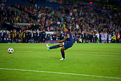 CARDIFF, WALES - Thursday, June 1, 2017: Paris Saint-Germain's Marie-Laure Delie scores her penalty kick during the penalty-shoot out during the UEFA Women's Champions League Final between Olympique Lyonnais and Paris Saint-Germain FC at the Cardiff City Stadium. (Pic by David Rawcliffe/Propaganda)