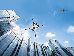 May 20, 2019, Florida, U.S.: City life has its challenges. The crowds, the traffic, pedestrians at the mercy of the weather, and drones also known as unmanned aircraft systems, or UAS, which will face some of the same challenges in our cities in the near future. By 2020, there could be as many as 400,000 commercial small UAS registered in the United States, along with some two million for recreational use. Many jobs, those too dirty or dangerous for people, are already emerging for drones, everywhere from farms in the heartland to the urban areas. Especially in an urban environment, there will be a need to keep all that activity in the air running safely and smoothly. NASA is conducting field demonstrations of small drones navigating urban landscapes in Reno, Nevada, and Corpus Christi, Texas, during the next few months. This will complete the agency's testing of technologies that can be part of a system to safely manage drone traffic. (Credit Image: © Ball Aerospace/NASA Via ZUMA Wire/ZUMAPRESS.com)