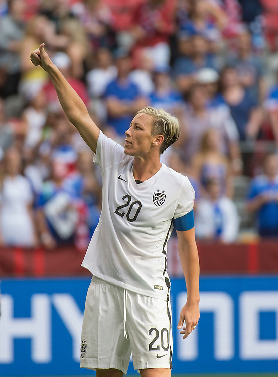 Abby Wambach of team USA in 2015 women's World Cup Soccer in Vancouver during the first round action between USA and Nigeria.