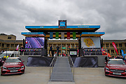 A general view inside Piece Hall Halifax of the rider presentation stage prior to stage 4 of the Tour de Yorkshire from Halifax to Leeds, , United Kingdom on 4 May 2019.