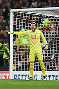 Derby County goalkeeper Scott Carson (1) shouts to his players during the EFL Sky Bet Championship match between Derby County and Sheffield Wednesday at the iPro Stadium, Derby, England on 29 October 2016. Photo by Jon Hobley.