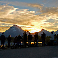 Sunset Seekers at Oxbow Bend<br /> Grand Teton National Park<br /> Wyoming