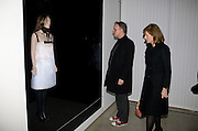 Hans Ulrich Obrist;  Julia Peyton-Jones , Puma/ Hussein Chalayan Retrospective Exhibition. Design Museum, London. 21 January 2009. *** Local Caption *** -DO NOT ARCHIVE-&copy; Copyright Photograph by Dafydd Jones. 248 Clapham Rd. London SW9 0PZ. Tel 0207 820 0771. www.dafjones.com.<br /> Hans Ulrich Obrist;  Julia Peyton-Jones , Puma/ Hussein Chalayan Retrospective Exhibition. Design Museum, London. 21 January 2009.