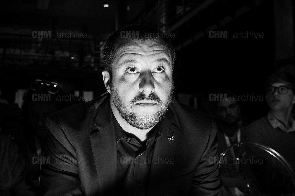 """Matteo Salvini partecipa ad """"Atreju"""" evento organizzato dal partito politico di destra Fratelli d'Italia. Roma 22 settembre 2017. Christian Mantuano / OneShot<br /> <br /> Matteo Salvini at 'Atreju' event organized by Fratelli d'Italia, italian right wing party. Rome 22 september 2017. Christian Mantuano / OneShot"""