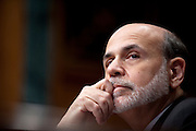 """Federal Reserve Board Chairman BEN BERNANKE testifies before the Senate Budget Committee on the outlook for U.S. monetary and fiscal policy"""" on Capitol Hill Tuesday."""