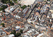 aerial photograph of Wakefield, West Yorkshire, England UK