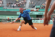 Roland Garros. Paris, France. May 30th 2012.French player Arnaud CLEMENT against David GOFFIN.