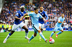Jesus Navas of Manchester City attacks - Mandatory byline: Matt McNulty/JMP - 07966386802 - 23/08/2015 - FOOTBALL - Goodison Park -Everton,England - Everton v Manchester City - Barclays Premier League