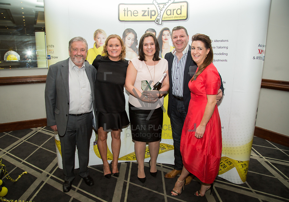 02.04.2017        <br /> The Zipyard Annual Awards, Castlettroy Park Hotel.<br /> Pictured at the event were, Don Wallace, Anna Maher, Agnes Kolecka, Maurice Muldoon, Caroline Wallace Agnes - Manager of The Year, The Zipyard Cavan. Picture: Alan Place.