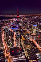 CN Tower, Union Station & Air Canada Centre (bottom left)