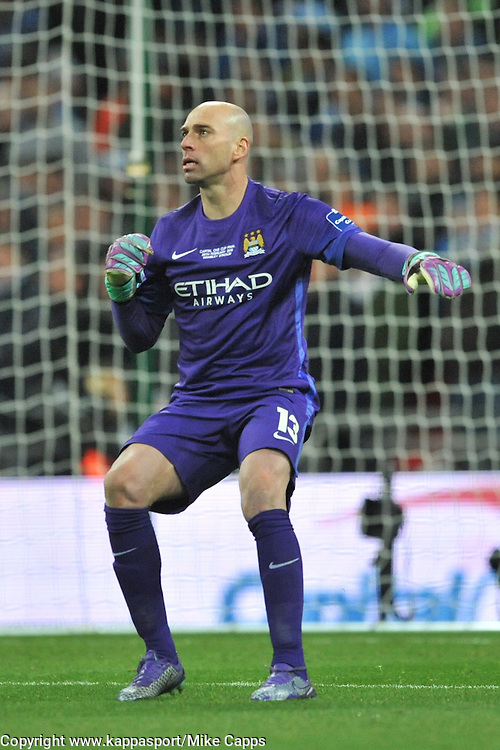 MANCHESTER CITY KEEPER WILLY CABALLERO Liverpool v Manchester City, Capital One Cup Final Wembley Stadium, Sunday 28th Febuary 2016