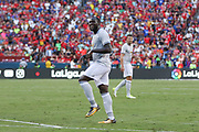 Manchester United Forward Romelu Lukaku after a missed chance during the International Champions Cup match between Barcelona and Manchester United at FedEx Field, Landover, United States on 26 July 2017.
